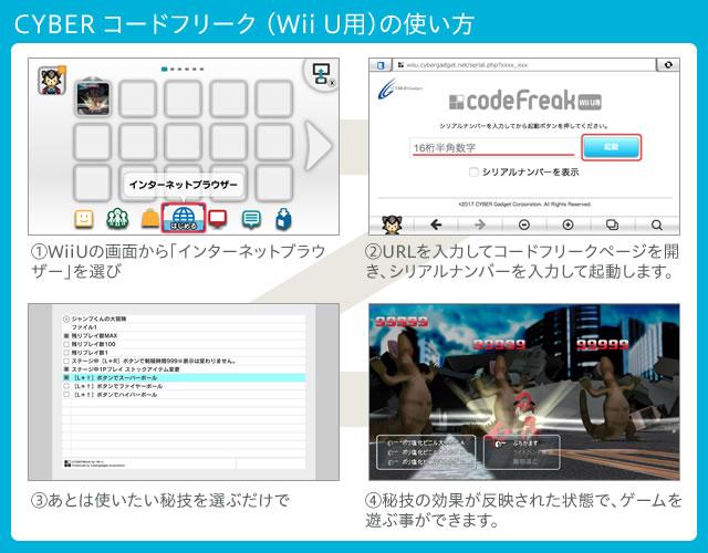 CYBER コードフリーク(Wii U用)の使い方