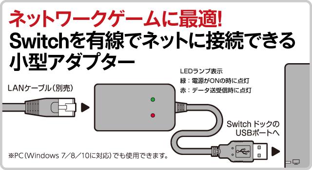 ネットワークゲームに最適!  Switchを有線でネットに接続できる小型アダプター