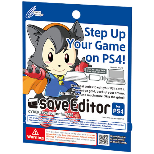 CYBER Save Editor for PS4: Game and Patch Code List