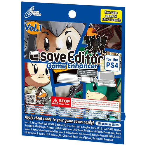 saveEditor Game Enhancer for the PS4 Vol.1