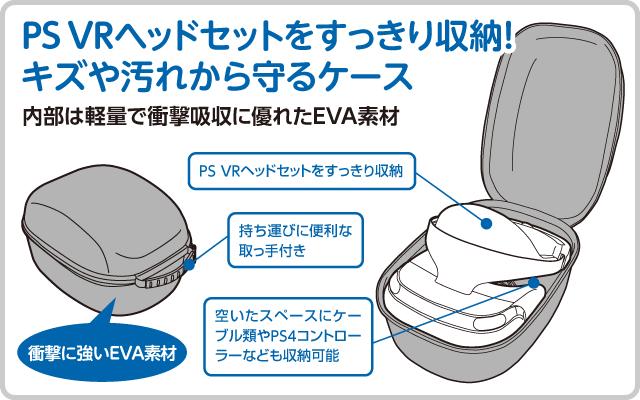 PS VRヘッドセットをすっきり収納! キズや汚れから守るケース