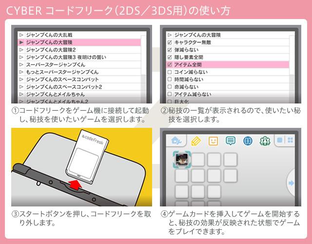 CYBER コードフリーク(2DS/3DS用)の使い方
