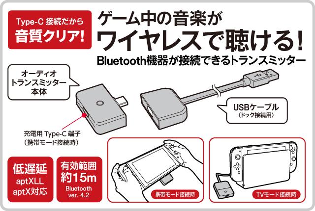 ゲーム中の音楽がワイヤレスで聴ける! Bluetooth機器が接続できるトランスミッター