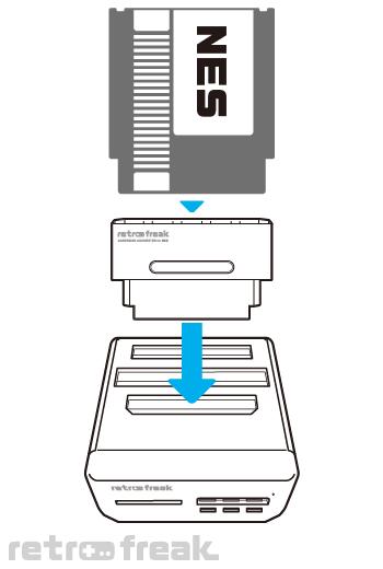 レトロフリーク用NESカートリッジコンバーター接続図