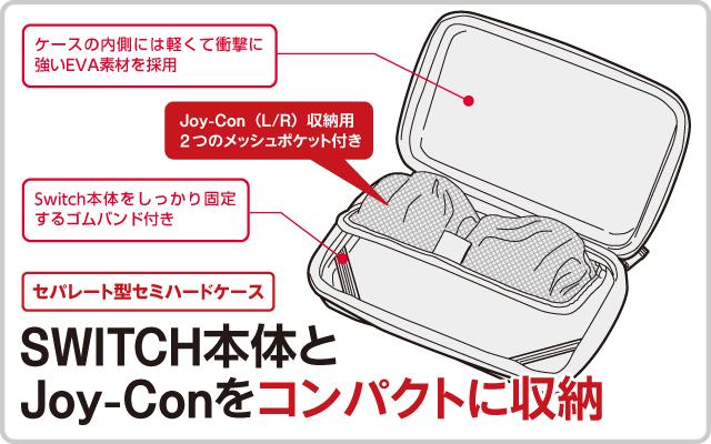 SWITCH本体とJoy-Conをコンパクトに収納